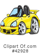 Car Clipart #42928 by Dennis Holmes Designs