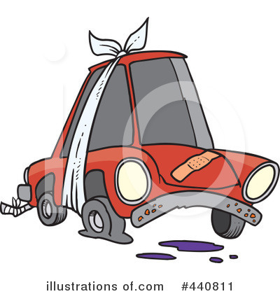 Royalty-Free (RF) Car Clipart Illustration by Ron Leishman - Stock Sample #440811