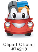Royalty-Free (RF) Car Clipart Illustration #74218