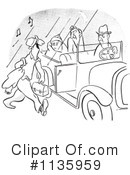 Royalty-Free (RF) Car Pooling Clipart Illustration #1135959