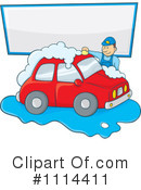 Royalty-Free (RF) Car Wash Clipart Illustration #1114411