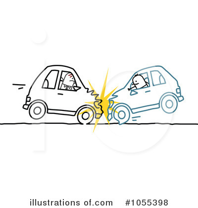Royalty-Free (RF) Car Wreck Clipart Illustration by NL shop - Stock Sample #1055398