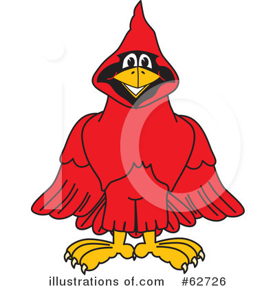 Royalty-Free (RF) Cardinal Character Clipart Illustration by Toons4Biz - Stock Sample #62726