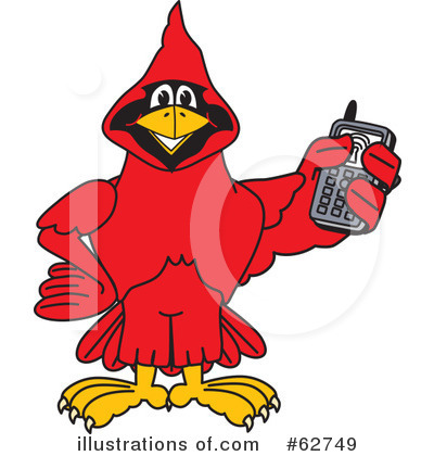 Cardinal Character Clipart #62749 by Toons4Biz