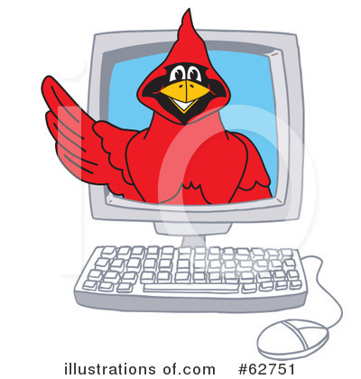 Cardinal Character Clipart #62751 by Toons4Biz