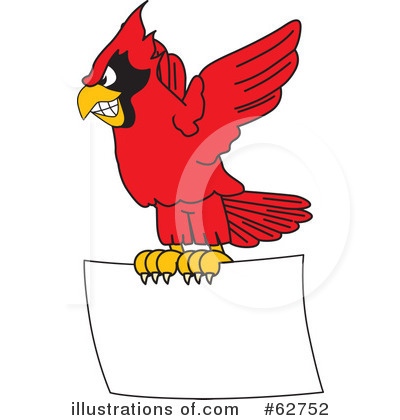 Cardinal Character Clipart #62752 by Toons4Biz