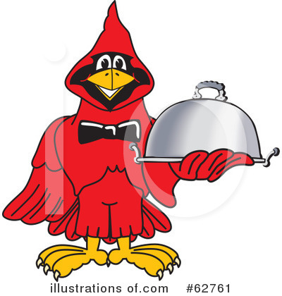 Cardinal Character Clipart #62761 by Toons4Biz