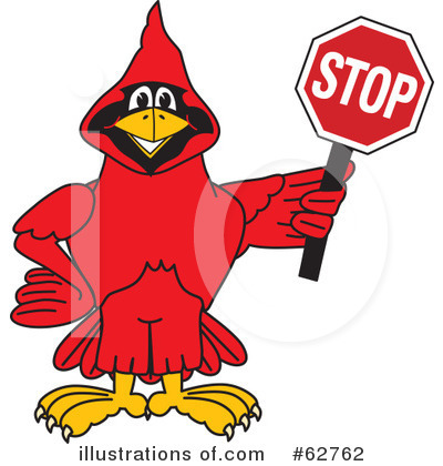 Cardinal Character Clipart #62762 by Toons4Biz