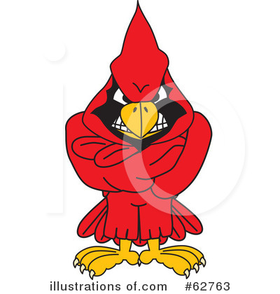 Cardinal Character Clipart #62763 by Toons4Biz