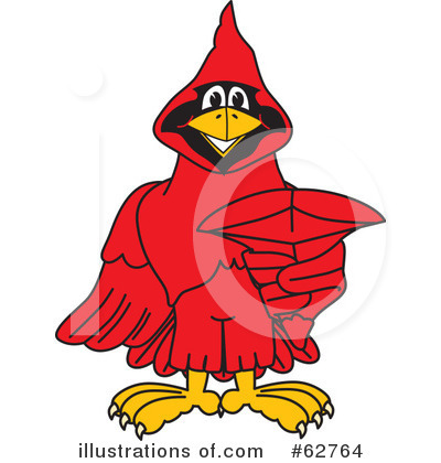 Cardinal Character Clipart #62764 by Toons4Biz