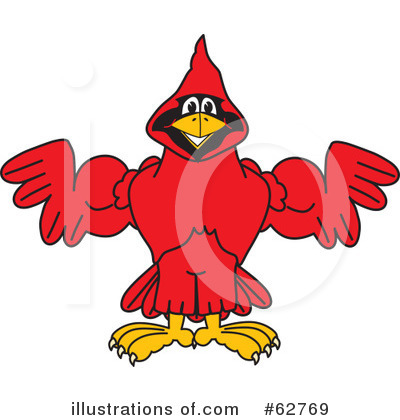 Cardinal Character Clipart #62769 by Toons4Biz