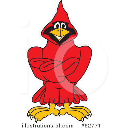 Cardinal Character Clipart #62771 by Toons4Biz