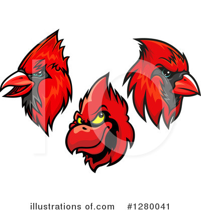 Cardinal Clipart #1280041 by Vector Tradition SM