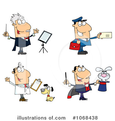 Career Clipart 1068438 Illustration By Hit Toon