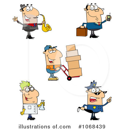 Delivery Man Clipart #1068439 by Hit Toon