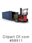 Royalty-Free (RF) Cargo Container Clipart Illustration #98911