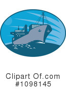 Royalty-Free (RF) Cargo Ship Clipart Illustration #1098145