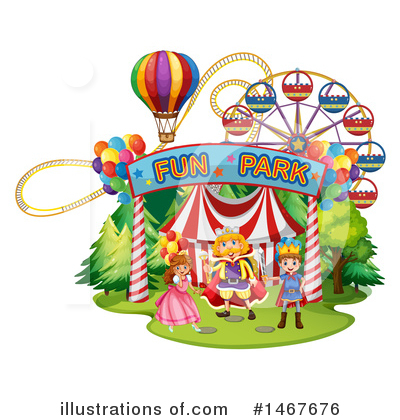 Roller Coaster Clipart #1467676 by Graphics RF