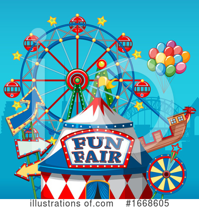 Royalty-Free (RF) Carnival Clipart Illustration by Graphics RF - Stock Sample #1668605