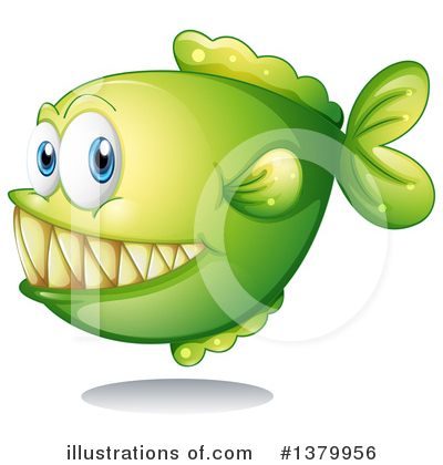 Piranha Clipart #1379956 by Graphics RF