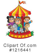 Royalty-Free (RF) Carousel Clipart Illustration #1216441