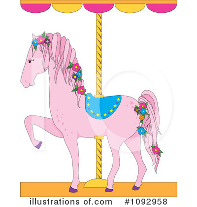 Carousel Clipart #1092958 by Maria Bell