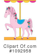 Carousel Horse Clipart #1092958 by Maria Bell