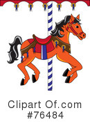 Carousel Horse Clipart #76484 by Pams Clipart