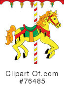 Carousel Horse Clipart #76485 by Pams Clipart