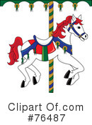 Carousel Horse Clipart #76487 by Pams Clipart