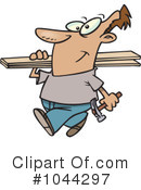 Royalty-Free (RF) Carpenter Clipart Illustration #1044297