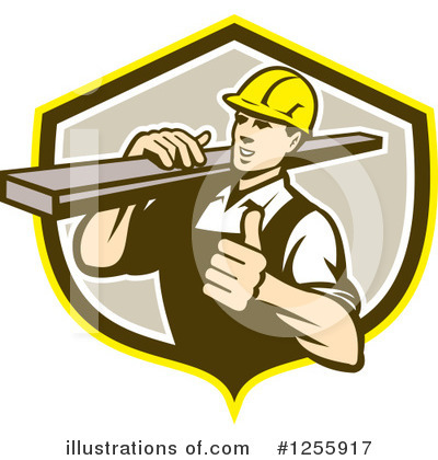 Royalty-Free (RF) Carpenter Clipart Illustration by patrimonio - Stock Sample #1255917