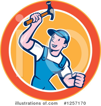Builder Clipart #1257170 by patrimonio