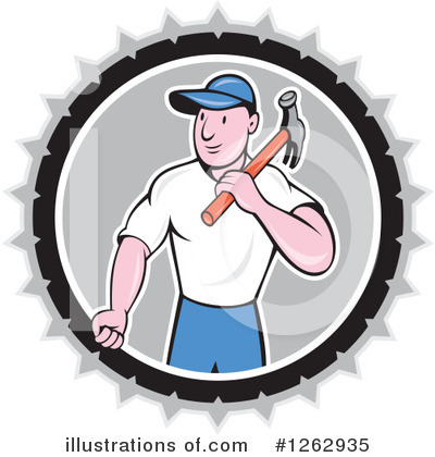 Builder Clipart #1262935 by patrimonio