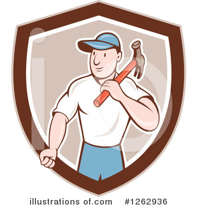 Builder Clipart #1262936 by patrimonio