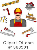 Royalty-Free (RF) Carpenter Clipart Illustration #1388501