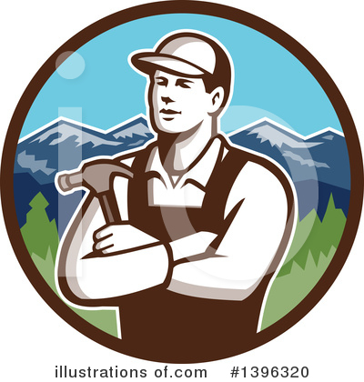 Builder Clipart #1396320 by patrimonio