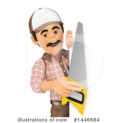 Carpenter Clipart #1446684 by Texelart