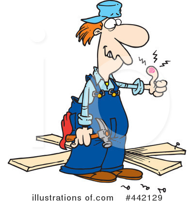 Carpenter Clipart #442129 by toonaday