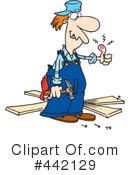 Royalty-Free (RF) Carpenter Clipart Illustration #442129