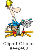 Royalty-Free (RF) Carpenter Clipart Illustration #442409