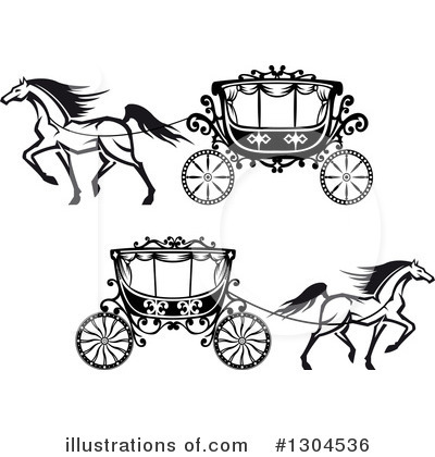 Carriage Clipart #1304536 by Vector Tradition SM