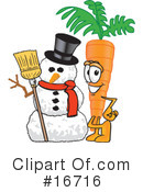 Carrot Character Clipart #16716 by Toons4Biz