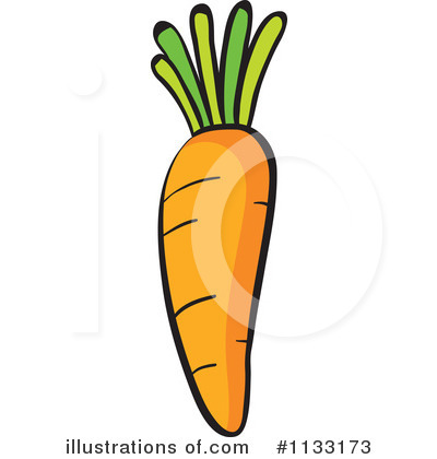 Carrot Clipart #1133173 - Illustration by colematt