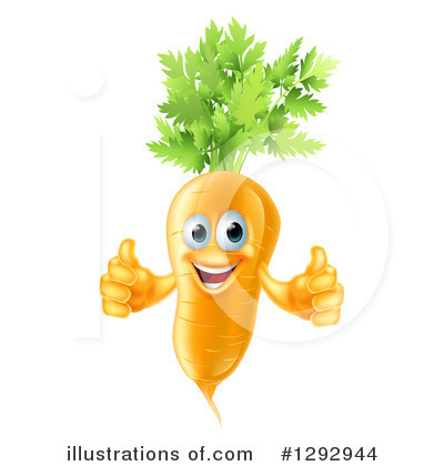 Carrot Character Clipart #1292944 by AtStockIllustration