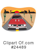 Royalty-Free (RF) Cars Clipart Illustration #24489