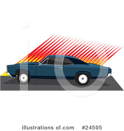Muscle Car Clipart #24505 by David Rey