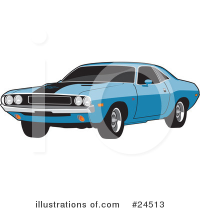 Muscle Car Clipart #24513 by David Rey