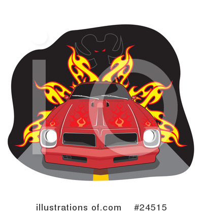 Muscle Car Clipart #24515 by David Rey