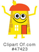 Royalty-Free (RF) Cartoon House Clipart Illustration #47423